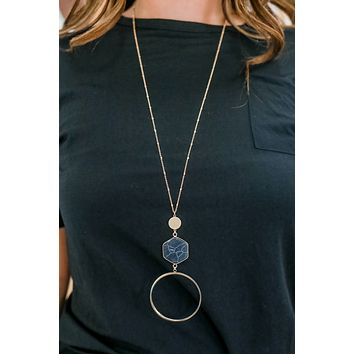 Don't Forget Necklace - Black Marble