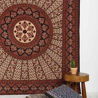 Magical Thinking Red & Black Medallion Tapestry- Black One