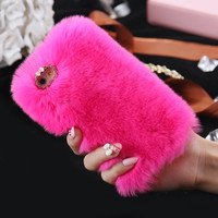 Hot Pink Fluffy Phone Case For All iPhone + All Samsung 2017