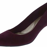 Dexflex Wine Suede Women's Jeanne Pointed-Toe Pump