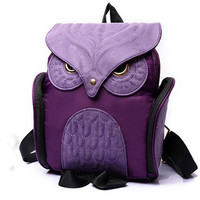 Women Cute Owl Small Backpack Casual Daypacks