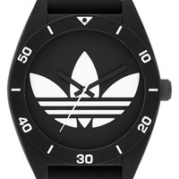 adidas Originals 'Santiago XL' Silicone Strap Watch, 50mm