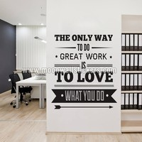 Office Decor Typography Inspirational Sticker - Moon Wall Stickers