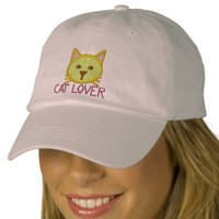 CAT LOVER Girls Cap Embroidered Baseball Caps   Zazzle