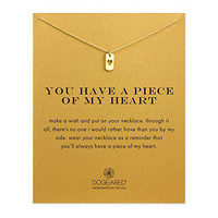 Dogeared You Have a Piece of My Heart, Heart Tag Necklace - Gold Dipped