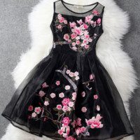 """Stunning """"Floral Spring"""" Organza Lace Dress."""