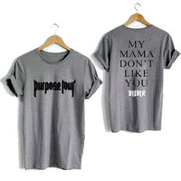 Justin Bieber Shirt My Mama Don't like You Unisex T-shirt Tee Size S-XL #9