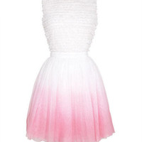 Ombre Tulle Dress