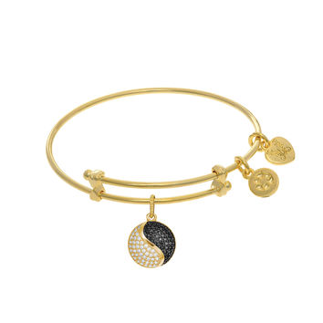 Yin Yang Charm Expandable Tween Bangle Bracelet