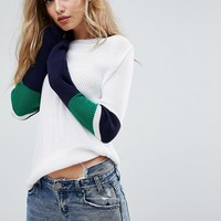 Boohoo Color Block Sweater at asos.com