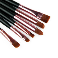 6 Pcs/set  Makeup Brushes Set Professional Make Up Wood Tools Cosmetics Foundation Face Eyeshadows Brush Kit