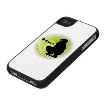 iCatch Fastpitch Softball Case For The iPhone 4 from Zazzle.com