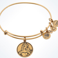 Disney Alex and Ani Parks Belle Charm Bangle Bracelet Gold Finish New With Tags