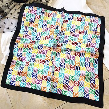 LV New fashion more letter star print scarf women