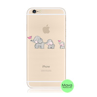 Baby Elephant iPhone 6s 6 Plus SE 5s 5 Soft Clear Case