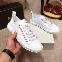 Giuseppe Zanotti  Men Fashion Boots fashionable Casual leather Breathable Sneakers Running Shoes