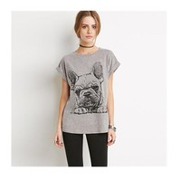 Frenchie Lover print Tee for women