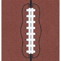 NIV Sports Collection Bible--soft leather-look, brown with football design - on Christianbook.com