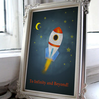 To infinity and beyond Toy Story Boys nursery art printable A4 JPEG Download