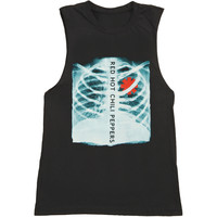 Red Hot Chili Peppers Women's  X-Ray Womens Tank Black Rockabilia