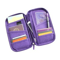 5 colours fashion Travel set nylon man brand ID passport holder credit card organizer bag women long travel wallet