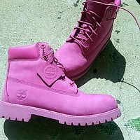 mieniwe Timberland Rhubarb boots for men and women shoes waterproof Martin boots lovers Roses