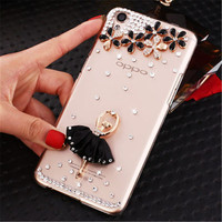 Luxury Rhinestones slim cover case For OPPO R9 R7 R7S R9Plus A59 A53 A51T A37 A35 A33 A31T A30 fashion diamond phone cases shell