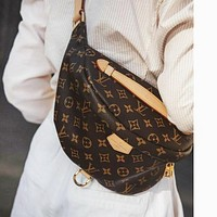 LV Louis Vuitton Women Men Leather Waist Bag Chest Bag Shoulder Bag Crossbody Satchel
