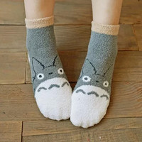 My Neighbor Totoro Cute Fleece Socks (2 pairs)