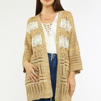 Lace Mixed Sweater Cardigan