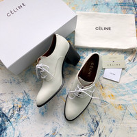CELINE Leather Lace-UP Bootie