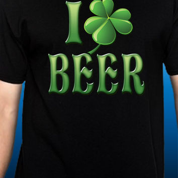 I Shamrock (Love) Beer St. Patrick's Day T-Shirt