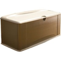 Rubbermaid 5E39 Extra Large Deck Box with Seat, Sandstone (FG5E3900OLVSS)
