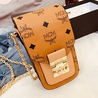 MCM New Women Leather Shoulder Bag Crossbody Satchel Chain Mobile Phone Bag