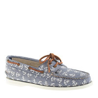 Sperry Top-Sider For J.Crew Authentic Original 2-Eye Boat Shoes In Anchor Chambray