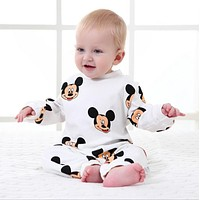 Baby Boys Clothing Spring Cotton Toddler Overalls Long Sleeved Mickey Romper Newborn Infant Jumpsuits Cartoon Baby Girls Rompers