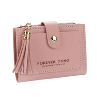 Simple Fashion Letters Tassel Short Women Wallet Coin Purse Card Holders small wallet for credit cards purses