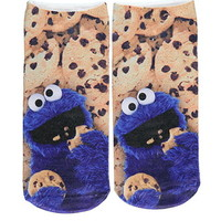 Cookie Monster Ankle Socks