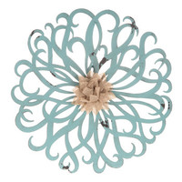 French Blue Flower Metal Wall Decor | Hobby Lobby | 1120435