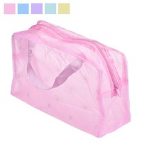 Floral Print Transparent Waterproof Makeup Make up Cosmetic Bag Travel Wash Toothbrush Pouch Toiletry Organizer Bag Tools