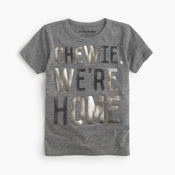 """Boys Star Wars For crewcuts """"chewie, We're Home"""" T-Shirt"""