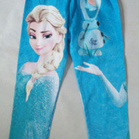 Full Blue Frozen Princess Kids Legging 5 Pieces/lot Size in 90-100-110-120-130 cm