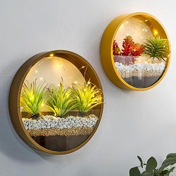 Creative LED Round Wall Shelves For Home Decor
