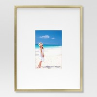 Metal Single Image Matted Frame 5X7- Brass - Project 62™