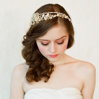 Double band golden tiara Style 147 Made to Order by myrakim