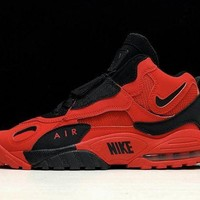 DCCK Nike AIR MAX SPEED TURF Retro Men Shoes Sneakers Sport Basketball Red Black Size 40-45