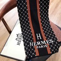 Hermes fashionable hot sale print stripe lady casual jacquard logo crisis