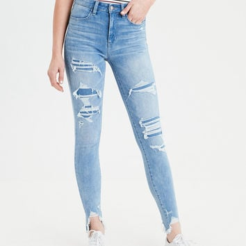 AE 360 Ne(X)t Level Super High-Waisted Jegging, Icy Repair