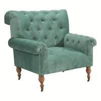 Magnolia Home Carpe Diem Upholstered Chair in Seaglass