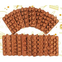 New Silicone Chocolate Mold 3D Shapes Mold Fun Baking Tools For Jelly Candy Numbers Fruit Cake Kitchen Gadgets DIY Homemade fall 2021